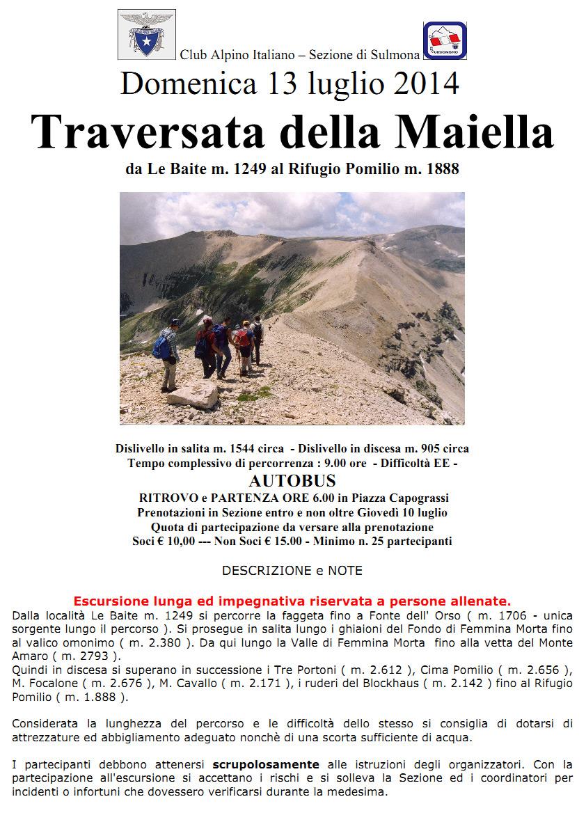 2014.07.13 Traversata della Maiella - CAI Abruzzo : CAI ...