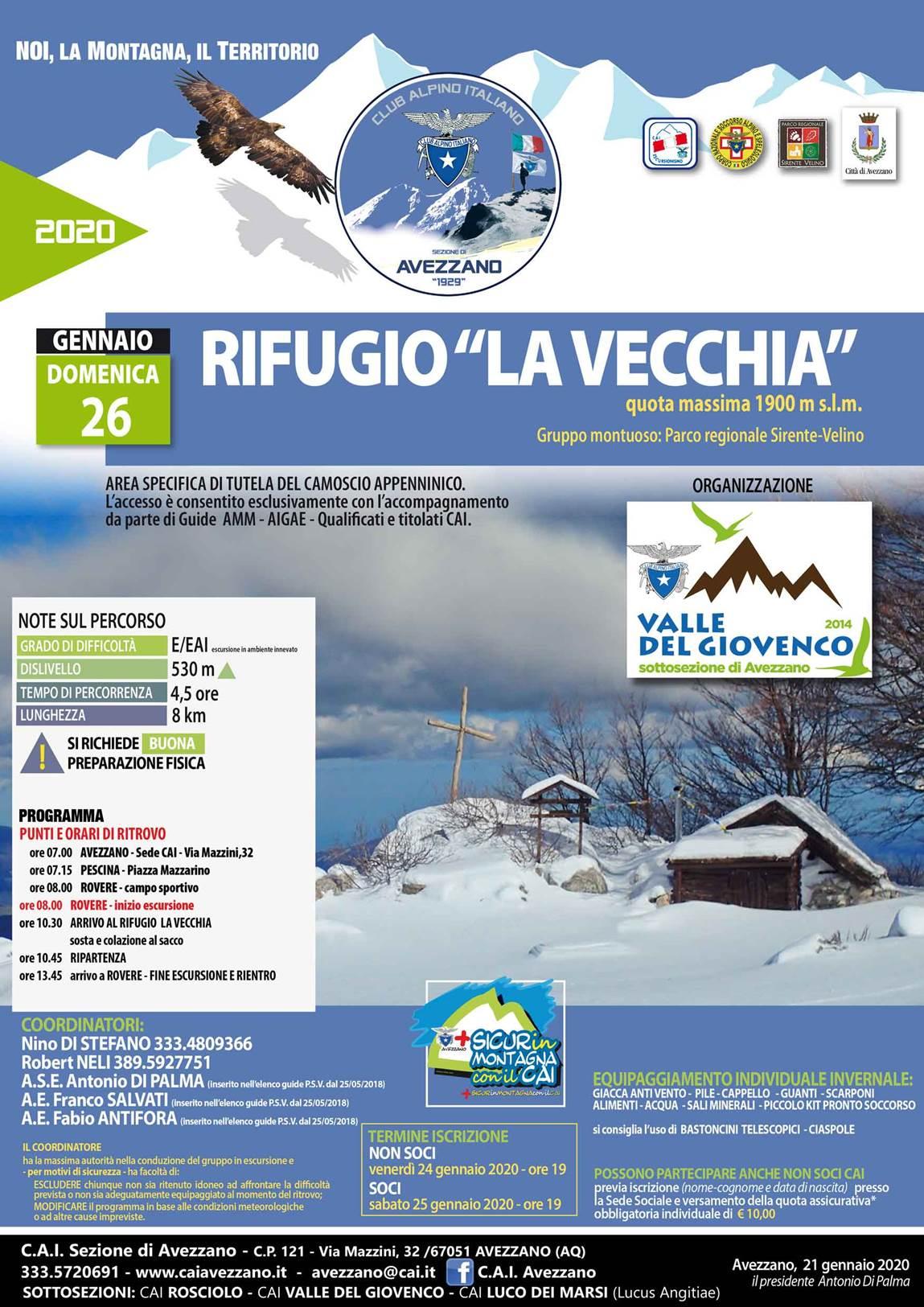 """2020.01.26 Rifugio """"La Vecchia"""""""