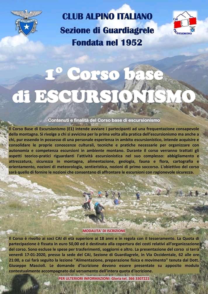 2020.01 Corso Escursionismo base